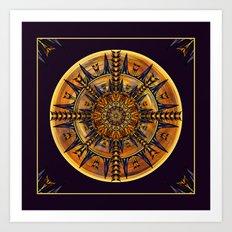 Hieroglyph Moth Mandala 3 Art Print