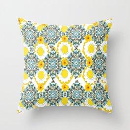 Sunshine Kaleidoscope Throw Pillow