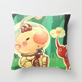 Pikmin Coffee Throw Pillow
