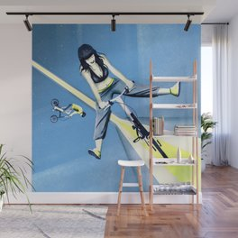 Happy Joyride (blue yellow) Wall Mural
