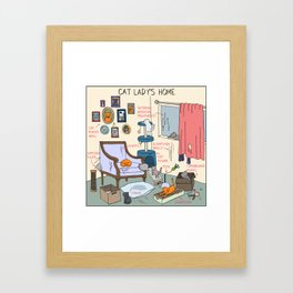 Cat Lady's Home Framed Art Print