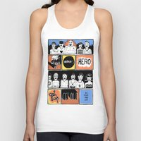 superheroes Tank Tops featuring Superheroes SF by WASTED RITA