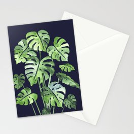Delicate Monstera Blue #society6 Stationery Cards