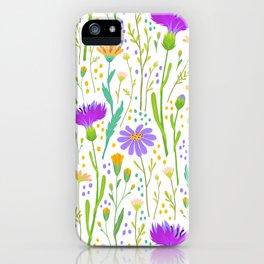 Meadow Wildflower Pattern iPhone Case