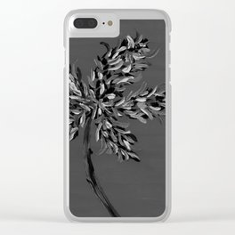 Milan-Inspired Flower No. 1 Black and White #Nature #OilPainting Clear iPhone Case