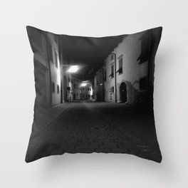 Sneaking Through The Dark Alley Throw Pillow