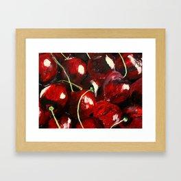 Cherries - Still Life In Acrylics Original Fine Art Framed Art Print