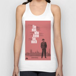 Hitchcock: The Man Who Knew Too Much Unisex Tank Top