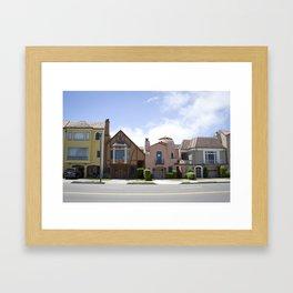 San Francisco beautiful houses Framed Art Print