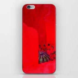 poppy inside iPhone Skin