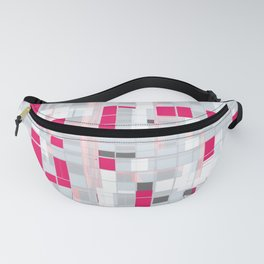 Popping Squares (pink) Fanny Pack