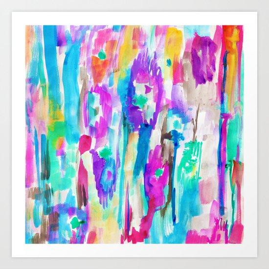 Summer Ikat Art Print