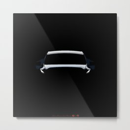 Society6 Online Car Prints - Electric Vibes Cool Sketch Kid's Art Decorations Metal Print