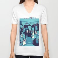 pulp fiction V-neck T-shirts featuring PULP FICTION variant by Ale Giorgini