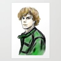 evan peters Art Prints featuring Evan Peters by Lyre Aloise