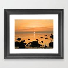 Sunset Ayrshire coast (Scotland) Framed Art Print