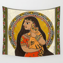 Tiger Queen Wall Tapestry