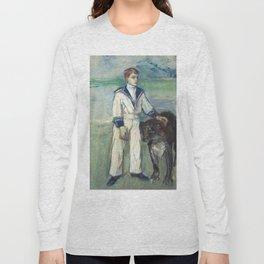 """Henri de Toulouse-Lautrec """"L'Enfant au chien, fils de Madame Marthe et la chienne Pamela-Taussat"""" Long Sleeve T-shirt"""