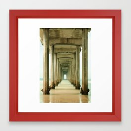 Scripps Pier Long Exposure Framed Art Print