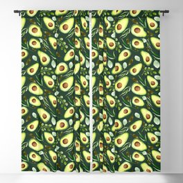 Watercolor Avocados   Fruit   Pattern Blackout Curtain
