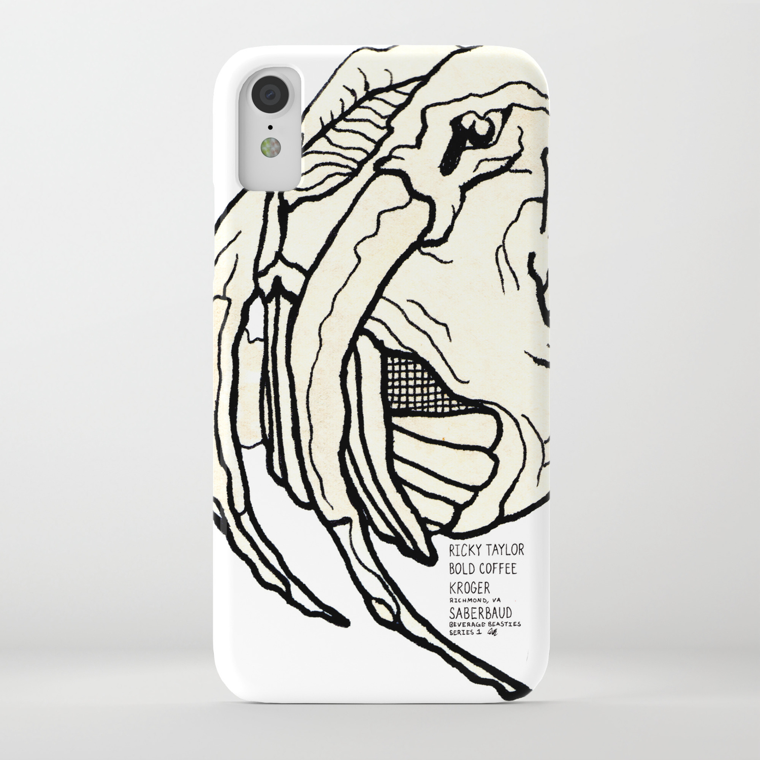 size 40 843e1 0f67d Saberbaud Beverage Beastie with Origin Story iPhone Case
