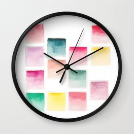 Summer Paint Chips Flat Lay Photograph Wall Clock