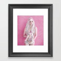 Little Gray Cat Framed Art Print