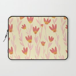 Red Tulips Pattern Laptop Sleeve