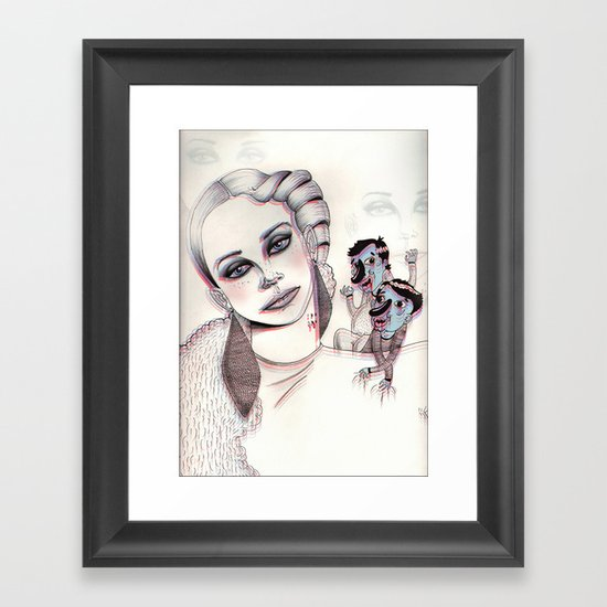 3D Nightmare Framed Art Print