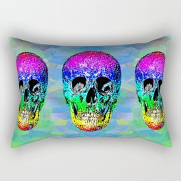 Skull disco rainbow Rectangular Pillow
