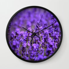 purple lavender Wall Clock