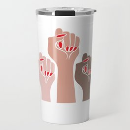 Womens For All Woman Every Kind And Race Fempowerment Power Women Travel Mug