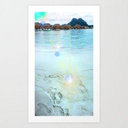 Tahitian Footprints Photo Art Print