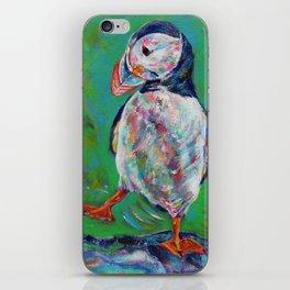 Dancing puffin iPhone Skin