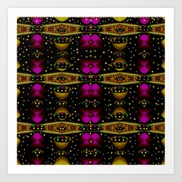 Golden abstracte pattern landscape Art Print