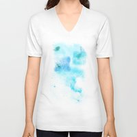 psychology V-neck T-shirts featuring a cold nebula by Gabrielle Agius