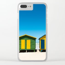 Hightech beach huts Clear iPhone Case