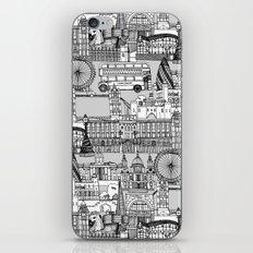 London toile black white iPhone & iPod Skin