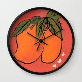 BFF Mangos Wall Clock