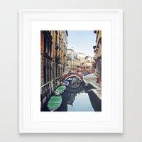 venice Framed Art Prints featuring VENICE by xoxo