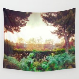 Instagram Summer Garden Irish Landscape Green and Amber Photography Print Wall Tapestry