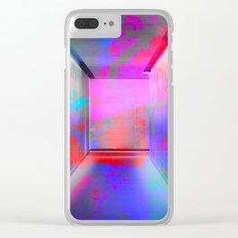 Space Graffiti Clear iPhone Case