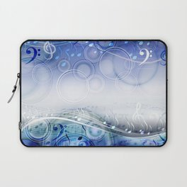 Abstract sheet music design background with musical notes Laptop Sleeve