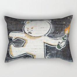Banksy's Big Bad Bear Rectangular Pillow