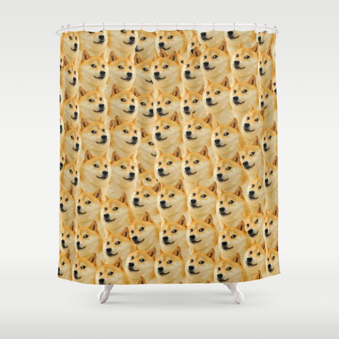 Shibe Doge Fun And Funny Meme Adorable Shower Curtain By Marios