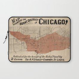 Chicago Map - Burnt District 1871 Laptop Sleeve