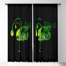 Deep Sea Creatures - The Angler Fish Green Fang Blackout Curtain