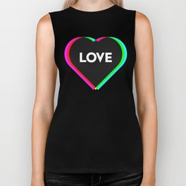 CMYK in RGB Love Heart Biker Tank