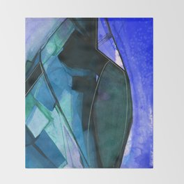 Abstraction 317I by Kathy Morton Stanion Throw Blanket