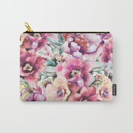 Watercolor peonies pattern Carry-All Pouch